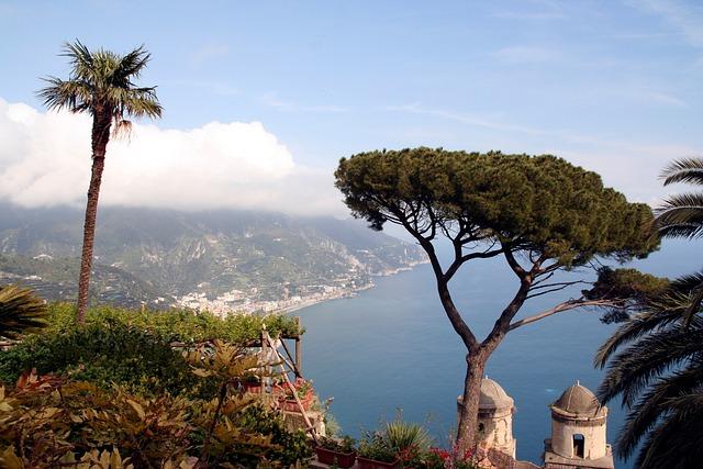 Sea, Landscape, View, Cliff, Amalfi, Ravello