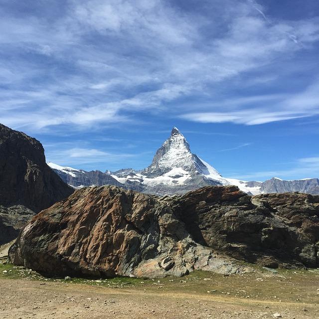 Matterhorn, Zermatt, Snow, Series 4000, Landscape