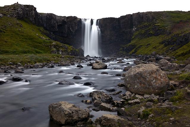 Gufufoss, Waterfall, Seyðisfjörður, Iceland, Landscape
