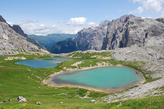 Alpine Lake, Mountain, Sky, Water, Trentino, Landscape