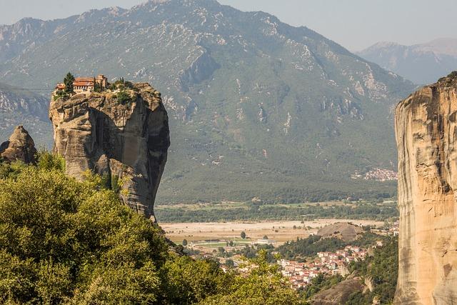 Nature, Landscape, Mountain, Rock, Sky, Kalampaka