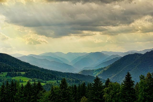 Nature, Landscape, Mountains, Sky, Clouds, Dramatic