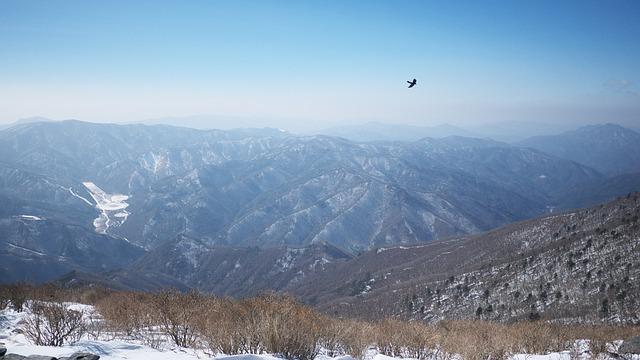Taebaek, Top, Mountain, Snow, Landscape