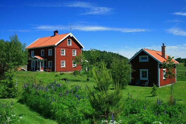 Sweden, Summer, Architecture, Landscape