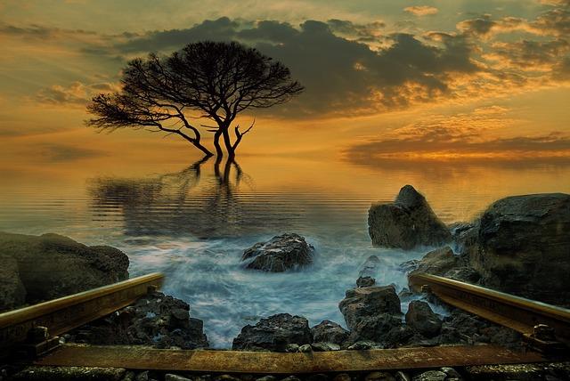 Landscape, Fantasy, Fantasy Landscape, Dream, Sunset
