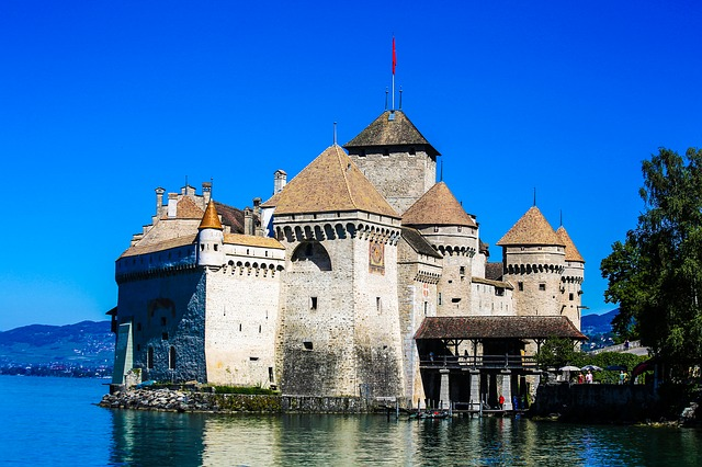 Swiss, Travel, Landscape, Château De Chillon