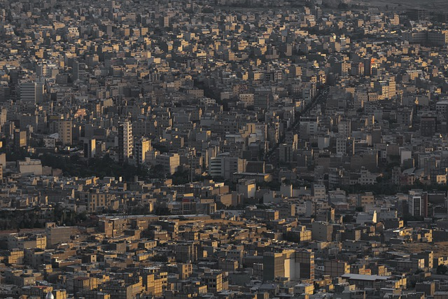 Iran, Tabriz City, Landscape, Metropolis, Houses