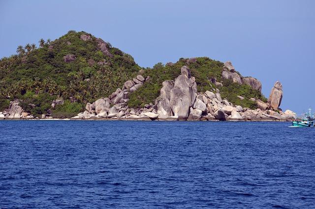 Thailand, Sea, Landscape, Koh Tao