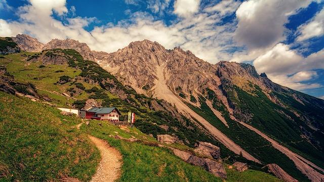 Mountain, Panorama, Nature, Landscape, Travel, Hut