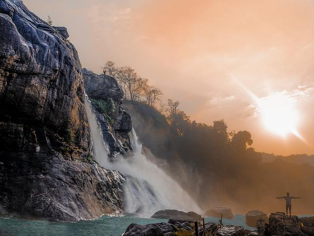 Travel, Waterfall, Sky, Landscape, Travel Photos