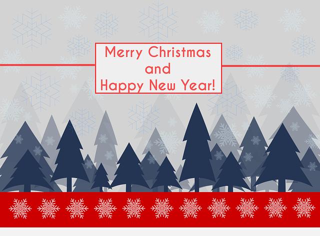 Winter, Landscape, Snow, Christmas, Flat Design, Trees