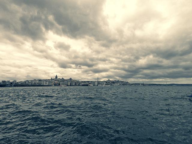Istanbul, Turkey, Landscape, Marine, Clouds, Dramatic