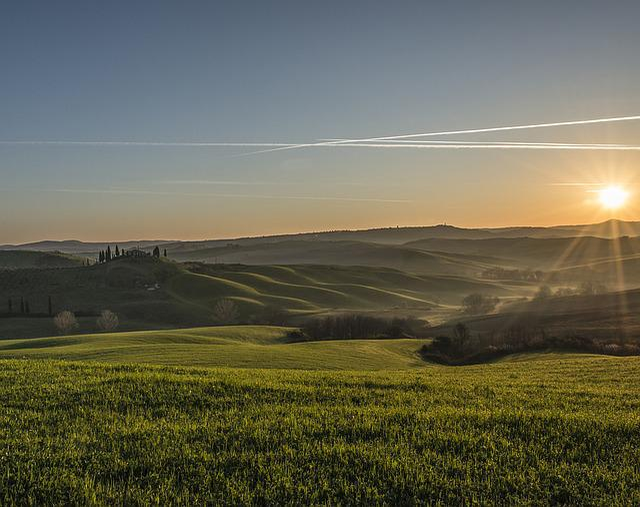 Tuscany, Landscape, Sunset, Beach, Nature