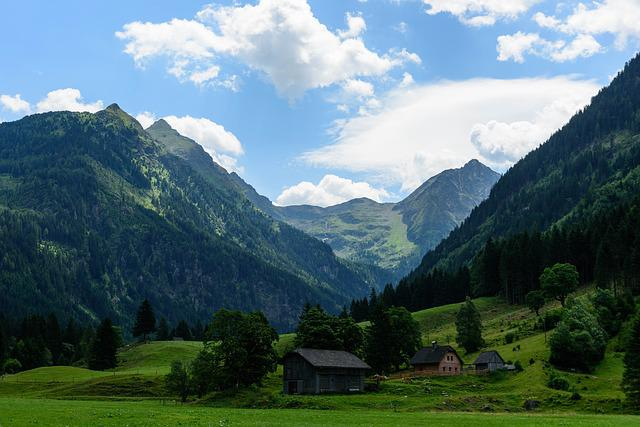 Valley, Mountains, Outlook, Landscape, Alpine, Forest