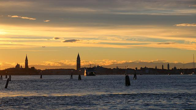 Lido, Venice, Clouds, In The Evening, Sunset, Landscape