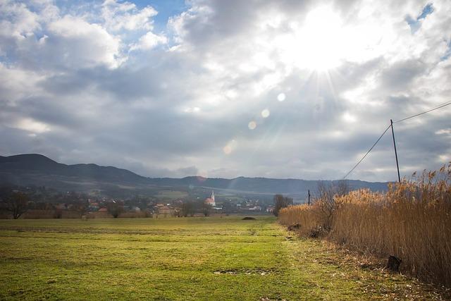 Spring, Village, Landscape, Sunshine, Nature