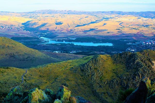 Landscape, Dam, Lake, Water, Land, Panorama, Mountains