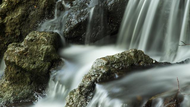 Landscape, Beautiful, Water Flow, Falls, Mountain