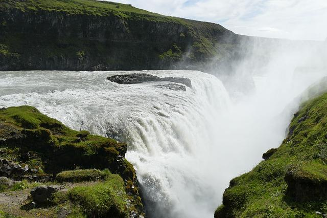 Iceland, Gullfoss, Waterfall, Landscape, River, Water