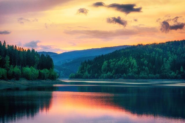 Reservoir, Landscape, Lake, Nature, Water, Clouds, Sky