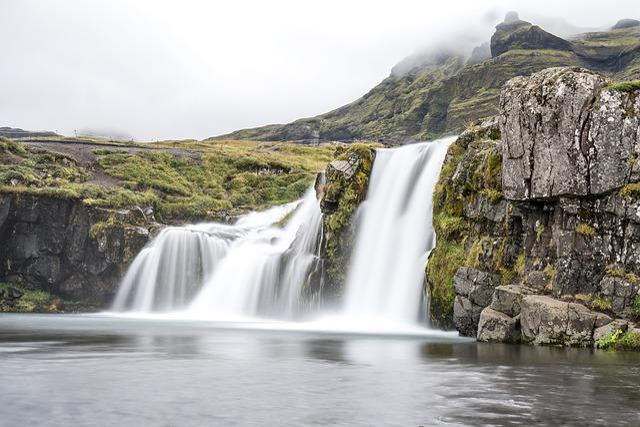 Iceland, Waterfall, Landscape, Water, Kirkjufellsfoss