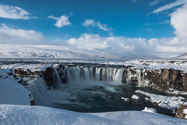 Iceland, Godafoss, Waterfall, Landscape, Waterfalls