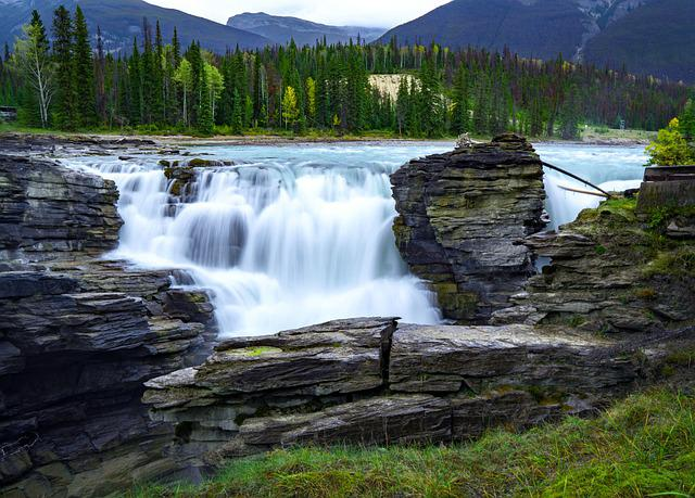 Waterfall, Forest, River, Lake, Wild, Landscape, Nature