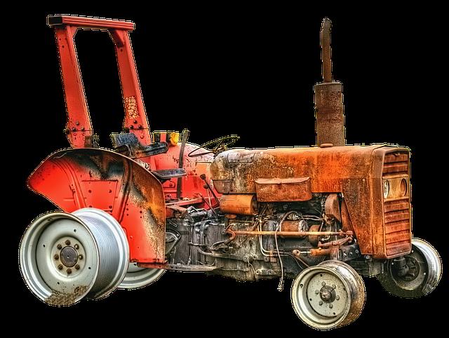 Tractor, Tractors, Burned Down, Scrap, Old, Landtechnik