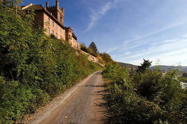 Neckarsteinach, Castle, Lane, Odenwald