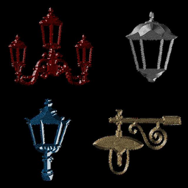 Streetlight, Lantern, Lamp, Elements, Scrap, Street