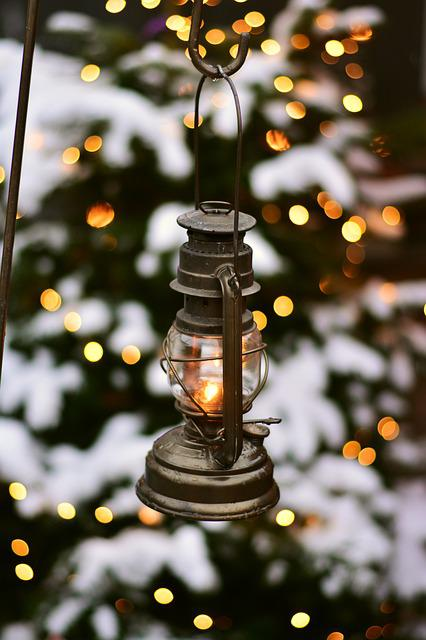 Lantern, Christmas, Kerosene Lamp, Christmas Decoration