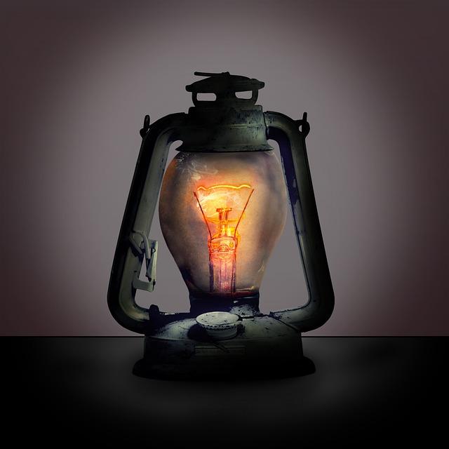 Lantern, Lamp, Filament, Light Bulb, Mood, Light