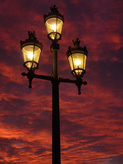 Street Lamp, Lantern, Afterglow, Light, Lighting, Hell
