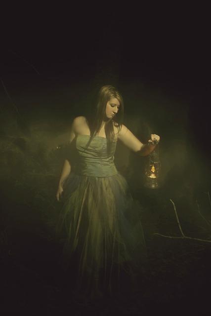 Girl, Nighttime, Lantern, Portrait, Woman, Young, Black