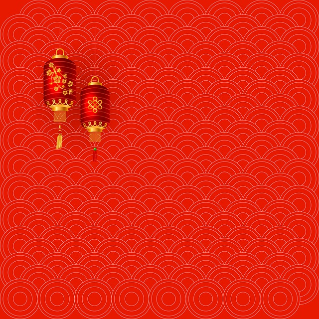 Chinese New Year, Lantern, Red