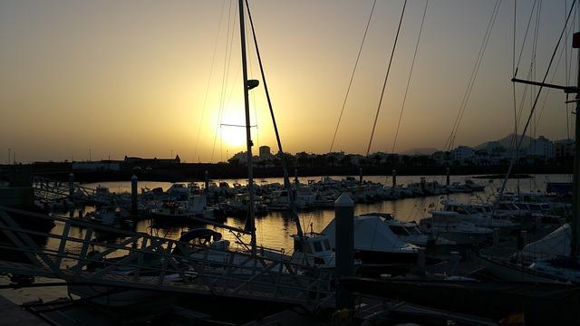 Marina, Reef, Lanzarote, Island, Atlantic