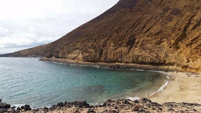 Beach, The Graceful, Lanzarote, Mountain, Nature