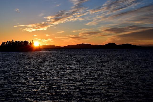 Sunset, Lapland, Lake, Water, Sweden, Landscape