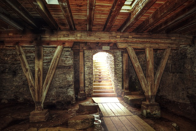 Keller, Ailing, Old, Stairs, Lapsed, Dilapidated