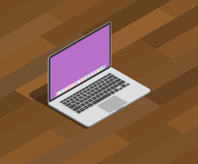 Shadow, Table, Wooden, Laptop, Isometric, Computer