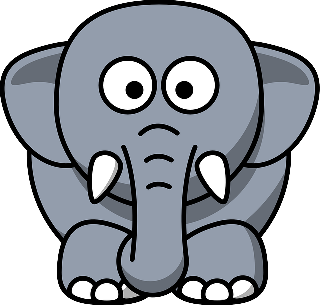 Elephant, Animal, Mammal, Black, Grey, Baby, Large