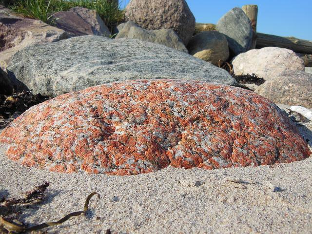 Beach, Stones, Large Granite Stone, Glacial Deposits