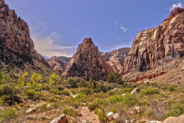Las Vegas, Nevada, Red Rock Canyon, Mountain, Travel