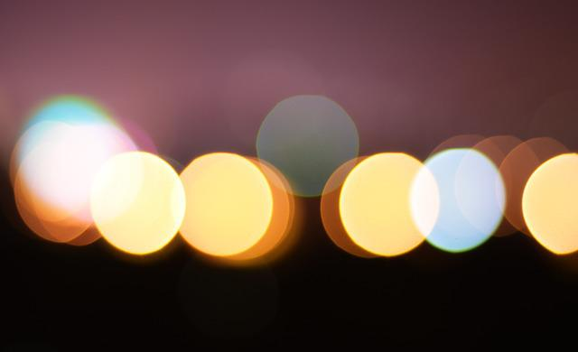 Unreal, Light, Confused, Bokeh, Effect Of, Circle, Late