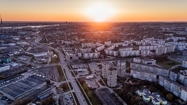 Riga, Aerial View, Latvia, Drone, City, Urban