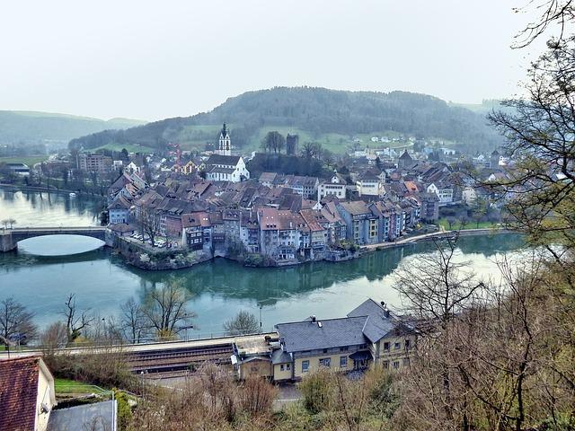 Laufenburg, High Rhine, Germany, Switzerland, Rhine