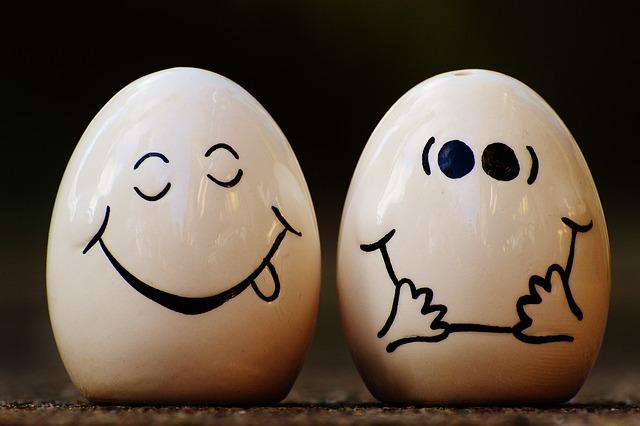 Salt Shaker, Pepper, Egg, Smiley, Funny, Laugh, Cute