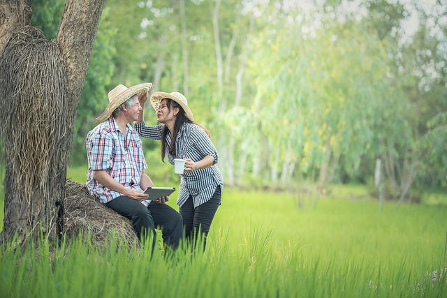 Countryside, Asia, Adult, Care For, Woman, Laughing