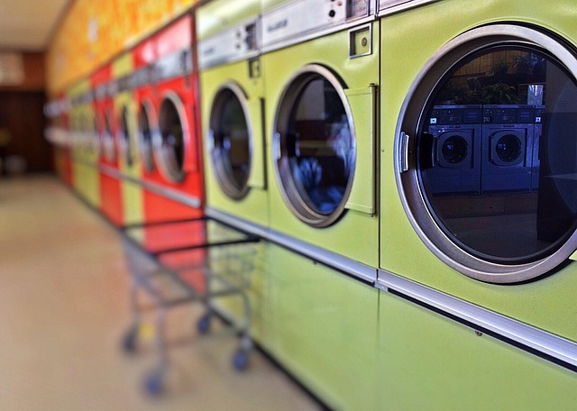 Laundry, Laundromat, Washer, Appliance, Washing