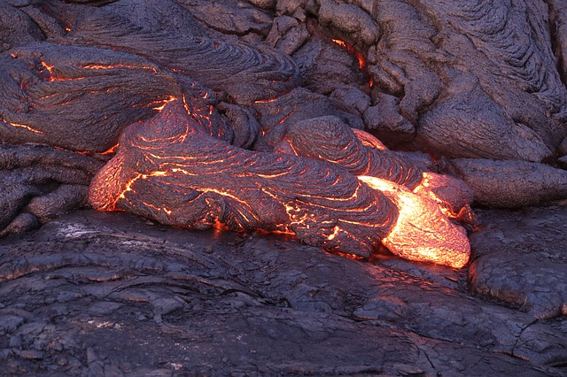 Lava, Heat, Hawaii, Rock
